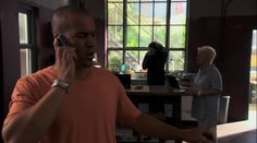 "Burn Notice 4x08 ""Where There's Smoke"" - Jesse Porter (Coby Bell), Madeline Westen (Sharon Gless) & Christian Aikins (Steven Culp)"