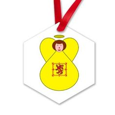 #Scotland Lion Rampart Angel Ornament -- Great for #Christmas . Designed by Auntie Shoe.