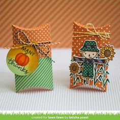 Lawn Fawn Blog, Craft Packaging, Lawn Fawn Stamps, Blog Search, Pillow Box, Fall Cards, Copics, Halloween Cards, Halloween 2020