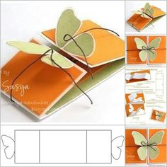Folding Butterfly card by Sasya