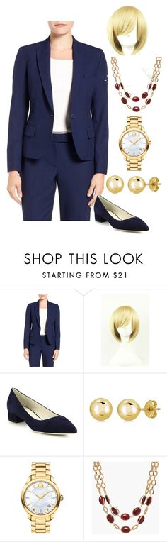 """""""H Clinton"""" by kim-coffey-harlow ❤ liked on Polyvore featuring Anne Klein, Giorgio Armani, BERRICLE, Movado and Talbots"""
