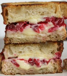 Roasted Cranberry & Brie Grilled Cheese - Vegetarian and Vegan Recipes - Cooking Stoned