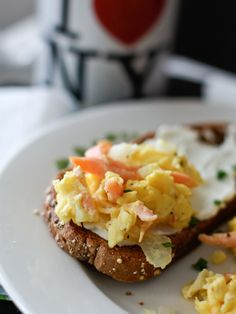 Scrambled Eggs with Smoked Salmon- so easy and quick
