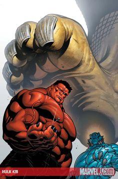 Hulk Cover: Rulk and A-Bomb Standing by Ed McGuinness Marvel Comics Poster - 61 x 91 cm Red Hulk Marvel, Marvel Vs, Marvel Heroes, Marvel Characters, Marvel Comics, Univers Marvel, Comic Books Art, Comic Art, Hulk Artwork