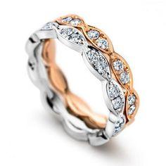Exquisite Savvy & Sand diamond wedding bands.