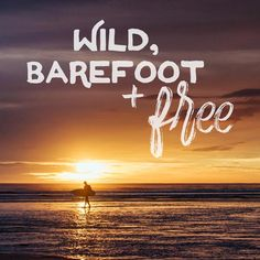 Wild, Barefoot, & Free || Beach Wanderlust Print - The Sunset Shop