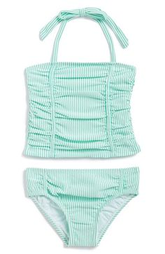 Toddler Girl's Jessica Simpson 'Tod Girl' Stripe Tankini Two-Piece Swimsuit