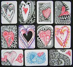 Zentangle: Happy Valentine's Day