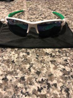 f0c23dabd7 Oakley OO9188-6359 Flak 2.0 XL white Green Polarized Sunglasses  fashion   clothing