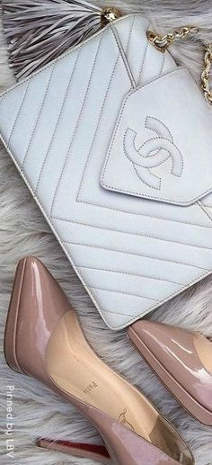 Style Essentials ♥✤ Quilted Chanel and Nude Louboutins
