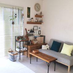 壁面ディスプレイ/IKEA/無印良品/ソファ/NOYES/DIY テーブル…などのインテリア実例 - 2015-07-21 10:23:15 | RoomClip(ルームクリップ)
