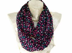 Lightweight Soft Chiffon Colorful infinity Scarf with by HeraScarf, $9.90