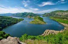 Amazing view of the Arda River and Kardzhali Reservoir in Bulgaria…