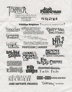 Mr Show band logos