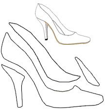 free shoe template for high heel shoe greeting card (i.e., 2-d) from making-greeting-cards.com