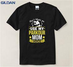 Funny T Shirt Parkour Mom Voice T-Shirt T-Shirts Mens T Shirt Print Black Cool T-Shirt For Men Street #Affiliate