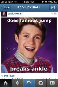 Bad luck Niall