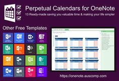 of perpetual calendars. Ready made for OneNote. Please share. Collection of perpetual calendars. Ready made for OneNote. Please share., Collection of perpetual calendars. Ready made for OneNote. Please share. One Note Tips, Onenote Template, One Note Microsoft, Apps, Perpetual Calendar, Good Notes, Evernote, Budgeting Finances, Planners