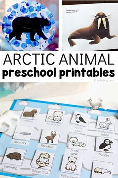 Teach your preschoolers about animals that live in the Arctic with 15 Arctic animals preschool printables.