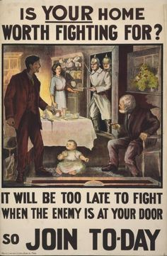 A rather over-exuberant British recruitment poster from the Great War.