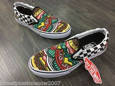 VANS SHOES Slip-on Burger/Checked (Late Night)