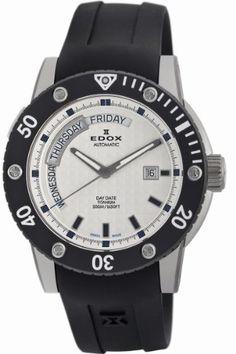 Edox Men's 83005 TIN AIN Class-1 Day Automatic Rotating Bezel Watch - http://uhr.haus/edox/edox-mens-83005-tin-ain-class-1-day-automatic-bezel