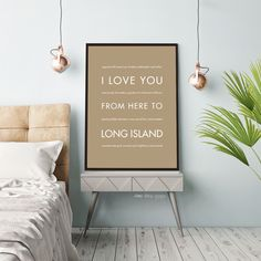 LONG ISLAND NY Wall Poster | Gift Idea | HopSkipJumpPaper  #totes #hopskipjumppaper #dallas #TBbuccs #scotland #hawaii #football #colorado #florida #pennsylvania