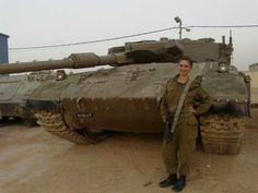 This is Esther Petrack. She made 7th place in America's Next Top Model before giving up a promising career to come to Israel and join the IDF. She currently serves as a tank instructor in the IDF's Armored Corps.