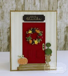 Give Thanks card by Melody Rupple for @tayloredexpress