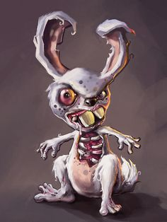 zombie rabbits   Zombie Rabbit Digital Art