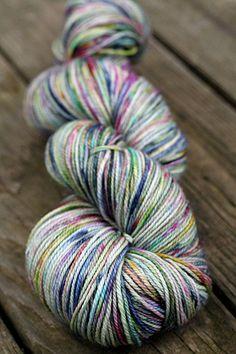 Cashmere Merino Hand Dyed Sock Yarn. By photuris.