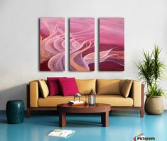 Triptych,3 split,stretched,canvas,multi panel, Print, abstract,contrast,flow,movement,motion,inspiration,lines,ribbons,leaves,lyrical,texture,creative,mixture,contrast,background,irregular,shapes,lines,rythm,forms,composition,style,expression,original,unique,contemporary,no,theme,modern,design,decor,color,colors,unique,original,red,pink,scarlet,burgundy,carmine,ruby,cool,shades,home,of,in,with,for,the,artistic,art,oil,mixed,media,painting,artworks,products,items,for sale,online,pictorem