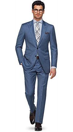 Washington Bleu Unicolore 300€ sur Suitsupply. Bonne couleur pour un brun, nickel.