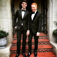 Pin for Later: Twice as Nice — See All the Stars Who Brought Gorgeous SAG Awards Dates Jesse Tyler Ferguson and Justin Mikita