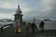 """""""The Russian Orthodox Church of the Holy Trinity in Antarctica. The most remote Orthodox church in the world, and the only church on the continent of Antarctica, Holy Trinity is both a popular tourist destination as well as the parish church for Russia's large scientific community in the region."""" ~ Peter Tosh"""