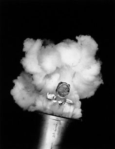 "TEXAS - A woman being shot out of a cannon as a ""human cannonball"" at a circus, 1947. Photo by © Cornell Capa. Magnum Photos"
