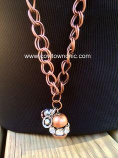 Copper Chic Long Necklace #longnecklace #copper