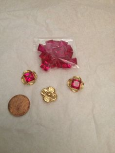 Sythentic Ruby Ouches, Tudor Bling $5