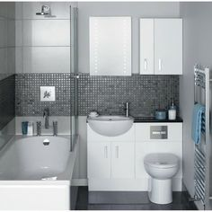 Grey Compact Bathroom Designs