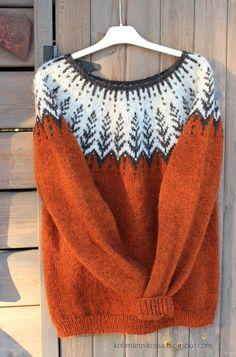 Fair Isle Knitting Patterns, Sweater Knitting Patterns, Knitting Stitches, Knitting Designs, Free Knitting, Norwegian Knitting, Icelandic Sweaters, Lana, Knit Crochet