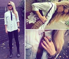 Muchacho Luv (by Morgan Joanel) http://lookbook.nu/look/3349825-Muchacho-Luv i love her shirt and boots
