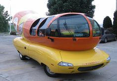 Oscar Wienermobile - i have actually seen this going down interstate 80 once!