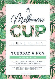 Melbourne Cup Poster Design using Text Mask (Image in Text) style. Image in Text Poster Designs 10 Ways - Hack Your Visual Design Series Poster Design Layout, Event Poster Design, Creative Poster Design, Poster Design Inspiration, Creative Posters, Poster Designs, Flyer Design, Web Design, Food Poster Design