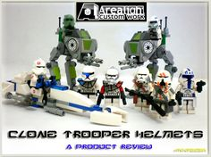 FLYGUY™, Brilliant Star Wars Lego Custom Clone Trooper Helmets and AT-RT