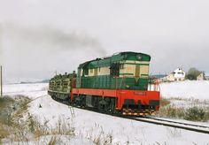 Lokomotiva 771 056-9, vojenský vlak, odb. Dolná Štubňa, 4.3.2004 12:40 - Trainweb