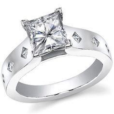 Princess Diamond Cathedral Engagement Ring
