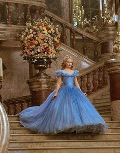 Lily James in the title role of Cinderella (2015). [x]