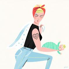 Los GIFs animados de Libby VanderPloeg | La Bici Azul: Blog de decoración, tendencias, DIY, recetas y arte