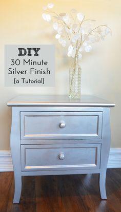 DIY Silver Finish - A Tutorial