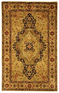 $5 Off when you share! Safavieh Persian Legend PL504A Soft Green Rug | Traditional Rugs #RugsUSA